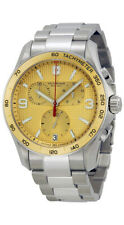 Victorinox Swiss Army Chrono Classic Stainless Steel Mens Watch Date 241658