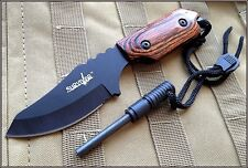 7 INCH OVERALL SURVIVOR FIXED BLADE KNIFE W/ FIRE STARTER WITH NYLON SHEATH