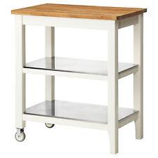 Ikea Kitchen Trolley Stenstorp White Oak 79x51x90 Cm