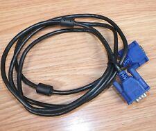 Genuine Hotron (E246588) Black AWM Style 20276 4' VGA Male/Male Monitor Cable