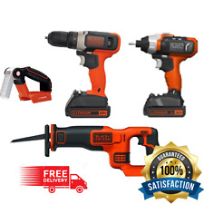 Drill Multi BLACK+DECKER 20V 4 Tool Combo Kit w/ 2Lithium Ion Batteries/Charger