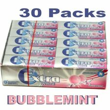 New Wrigley's 30 Packets Extra Chewing Gum Bubblemint Sugar Free Wrigleys Packs