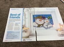 The Snowman & The Snowdog pattern cross stitch chart only /1350