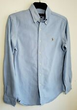 POLO RALPH LAUREN SOFT DENIM MENS SHIRT S SLIM JEANS BLUE LONG SLEEVE 247
