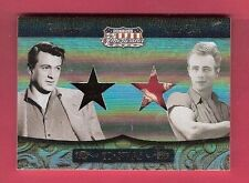 JAMES DEAN ROBE & ROCK HUDSON COAT WORN 2 SWATCH RELIC PIECE CARD #d50 AMERICANA