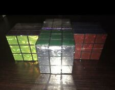 LAZER MAGIC CUBE Holographic Laser Cubes PUZZLE TOY PARTY GIFT GAME Sealed NEW
