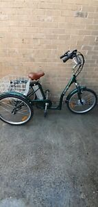 """Jorvik electric tricycle - Green- 17"""" inch Frame -low step over"""