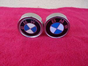 72-81 BMW 3.0 528i 530i 630csi 733i PAIR OF ALLOY CENTER CAPS FOR ALLOY WHEELS