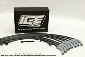 ICE Ignition PRO 100 9 mm Leads - V8 Universal, HEI, STRAIGHT Spark Boots