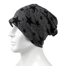 Trendy Men Women Stars Pattern Cotton Slouch Beanie Hat Casual Ski Cap Oversized