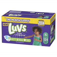 Diapers Size 6, 124 Count - Luvs Ultra Leakguards Disposable Baby Diapers, One