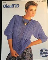 Patons DK Knitting Pattern, Ladies Jumper Sweater Size 30/40""