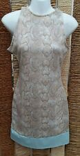 MISSGUIDED BNWT Snakeskin & Faux Leather Bodycon Dress Size 10