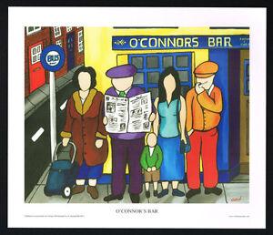 O'Connor's Bar/Bus Stop/Pub/N/Irish Art Group/Fine Print/Martin Laverty/Ireland