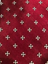 Cartier vintage 100% Silk Necktie Red & Black Geometric 3 W x 60L