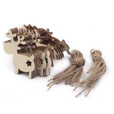 20stk Weihnachtsanhänger aus Holz Rentier Elch Christbaumschmuck Baumbehang