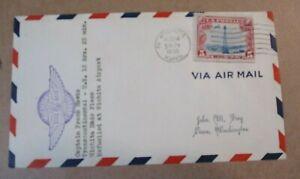 "COVER 1930  ""CAPTAIN FRANK HAWKS"" TRANSCONTINENTAL FLIGHT WICHITA MADE PLANE"