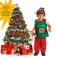 Child Elf Costume Christmas Baby Toddler Dress Boy Girl Green FREE EXPRESS POST