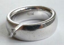 FOSSIL Ring Solitär Zirkonia 925 Silber Vintage 80er silver ring