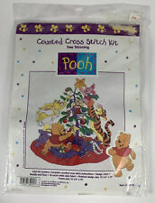 Disney Winnie The Pooh Cross Stitch Kit Christmas Tree Trimming 34015 Sealed