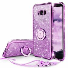 Luxyry Glitter Bling Case with Ring Kickstand for Samsung Galaxy S8 Plus-Purple