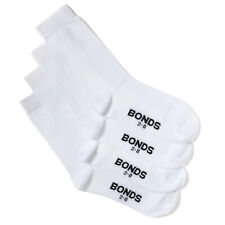 2 X Bonds Kids' Size 9-12 Oxford School Crew Socks 4-pack - White