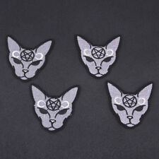 Crescent Moon Cat Patches Embroidery Patch Iron on DIY Applique Accessories