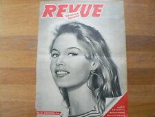 BB BRIGITTE BARDOT ORIGINAL COVER  NOVEMBER 1956 DUTCH MAGAZINE BIG SIZE