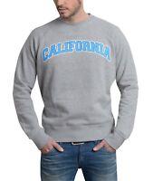 Herren Pullover  Sweatshirt Sweater Pulli grau, Gr. L - LA California USA Style