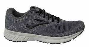 Brooks Revel 3 Lace Up Grey Woven Mens Running Shoes Trainers 1103141D099