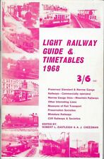 LIGHT RAILWAY GUIDE & TIMETABLES 1968 David & Charles Paperback 1968