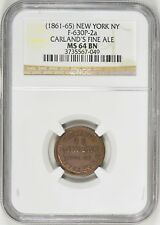 1861-65 F-630P-2a Carland's Fine Ale NGC MS-64 BN Top Pop