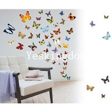 New 80 X Colorful Butterfly Wall Stickers Decal Removable Art Vinyl Decor  Home Part 92