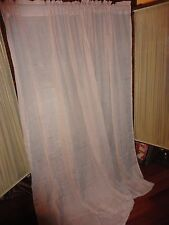 BRYLANE HOME ANTIQUE ROSE VOILE SEMI SHEER (PAIR) PANELS CURTAINS 50 X 84