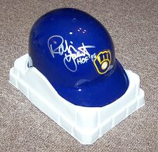 ROBIN YOUNT HOF 99 AUTO AUTOGRAPH SIGNED MINI HELMET JAMES SPENCE JSA