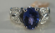 14KW 1.66 Carat AAA (3A) Tanzanite & Diamond Ring