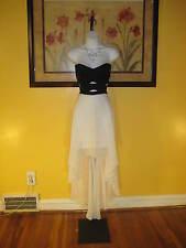 NWT  Arden B. Black & White Hi-Lo Maxi Dress Size L