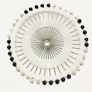 40 PCS HIJAB SCARF ABAYA SAFETY PIN CRAFT TAILOR BERRY SEWING HAT BLACK & WHITE
