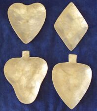Hearts Diamonds Clubs Spades Card Game Shell Dishes (4) Unusual & Nice