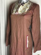 NEW Generation Size 14  Accent Tunic Kurta TOP- RED BEIGE DESIGN