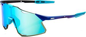 100% Hypercraft Bike Sunglasses Matte Metallic Into Fade Blue Topaz Mirror Lens
