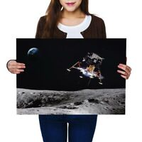 A2 - Moon Landing Space Mission Craft Poster 59.4X42cm280gsm #45782