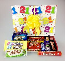 """Happy 21st Birthday"" Chocolate Box Hamper Gift Wrapped Male or Female Themed"