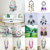 Various Handmade Dream Catcher Net Feathers Wall Car Hanging Decor Ornament Gift