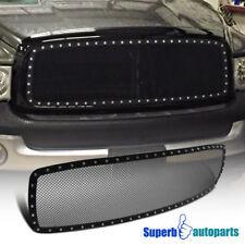 02-05 Dodge Ram 1500 2500 3500 Front Main Hood Grille Insert Rivet Style Black