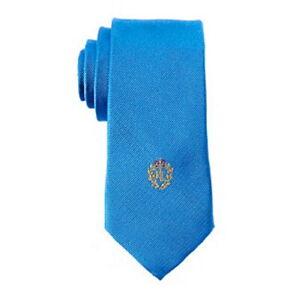 $224 Ralph Lauren Kids Boys Blue Solid Classic Silk Tie Dress Necktie 54x2.5