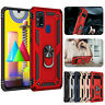For Samsung Galaxy M31 Hybrid Armor Case Magnetic Finger Ring Kickstand Cover