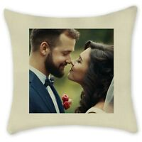 PERSONALISED CUSHION PILLOWCASE Cover Custom Image Photo Gift Cover  Linen
