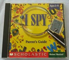 I Spy - Disc And Parent'S Guide - 1997 Scholastic - Win 95 / 3.1 & Mac