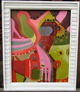 LISTED Louise Abrams Older Surreal Oil Painting From Her Estate #2 NO RESERVE